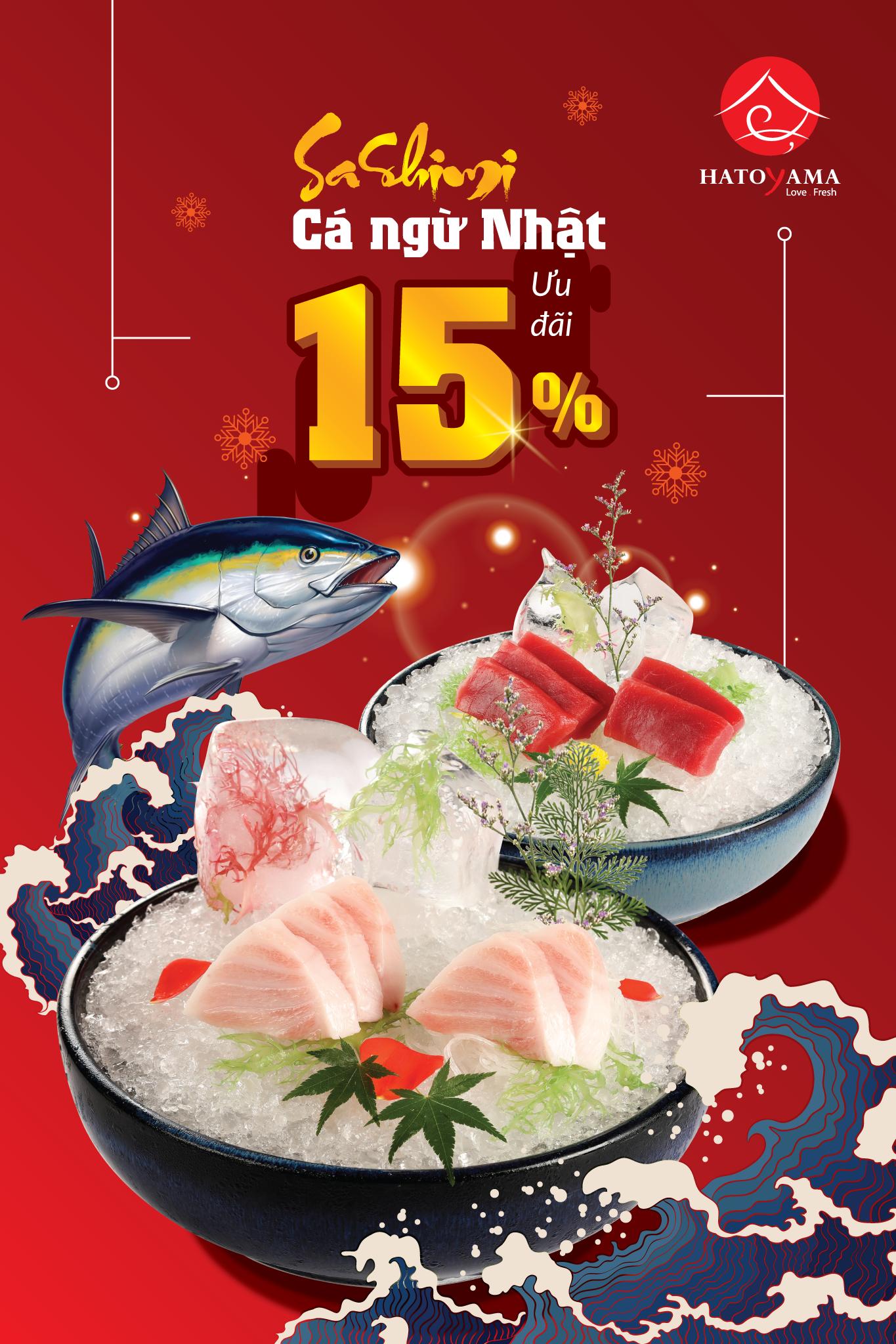 Ưu đãi sashimi cá ngừ