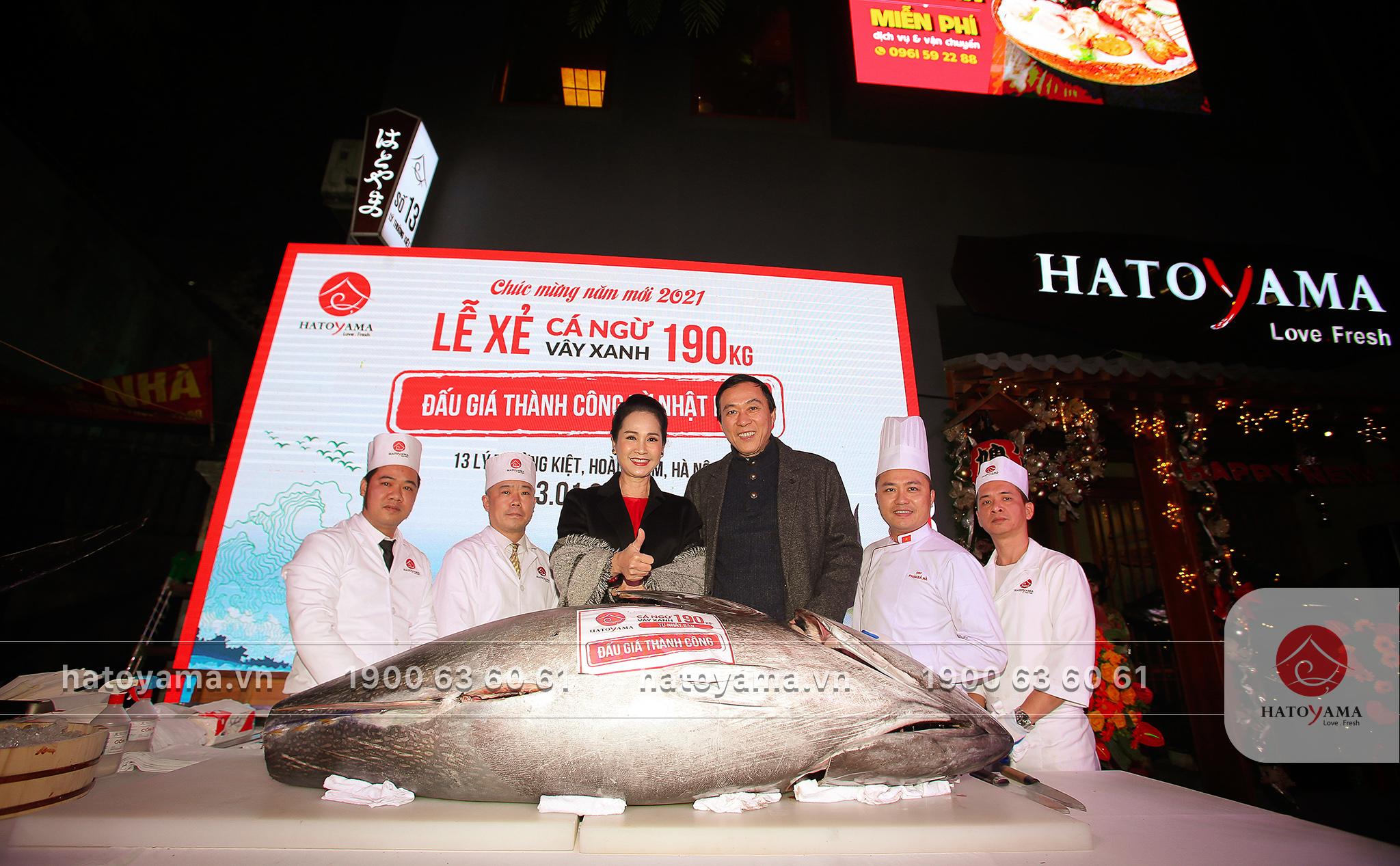 Lễ xẻ cá ngừ là sự kiện thường xuyên và có ý nghĩa quan trọng của Hatoyama